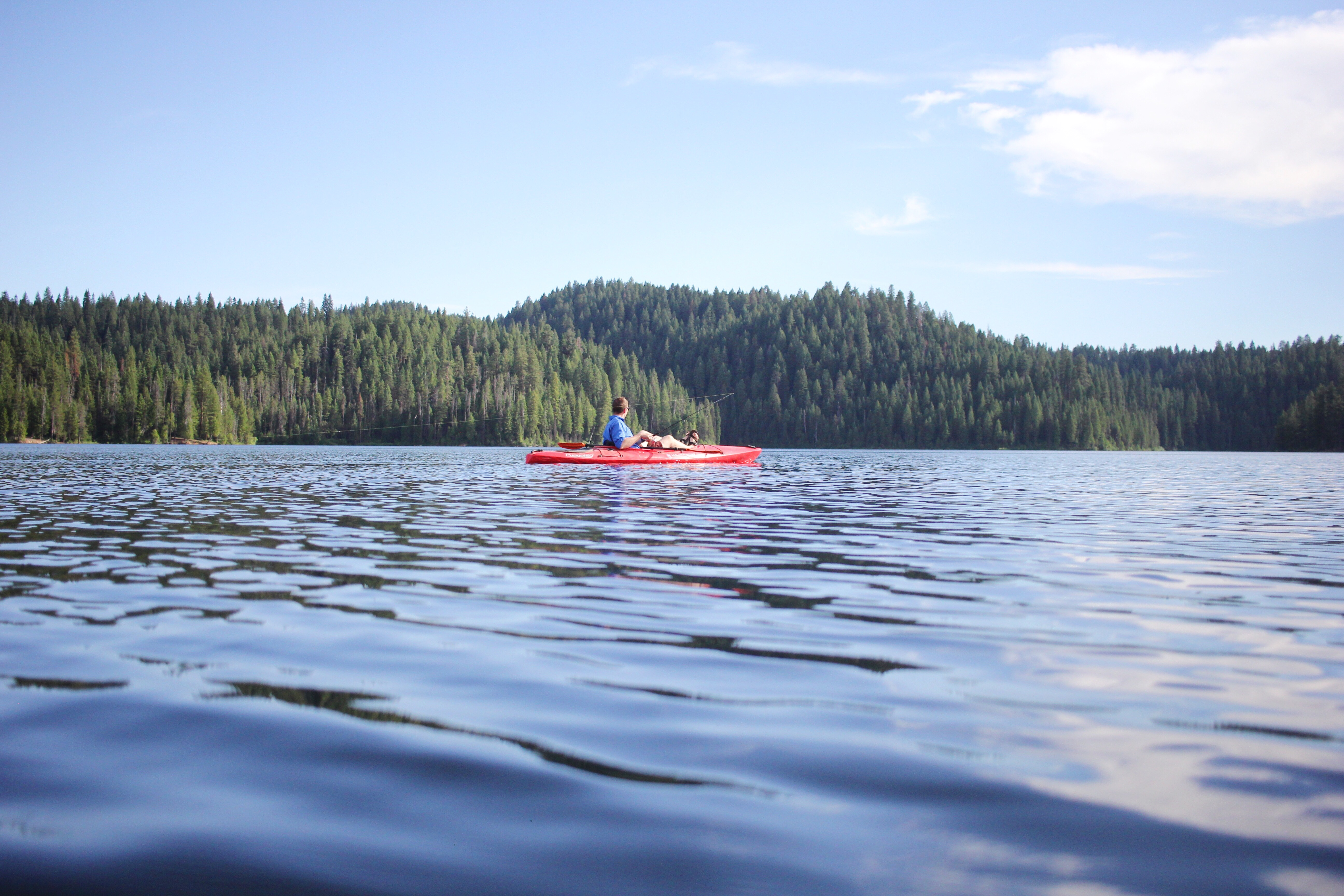 best camping spot at sagehen campground, camping with toddlers, idaho camping, sagehen reservoir, kayak fishing, wilderness systems kayak